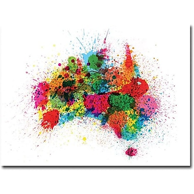 Trademark Global Michael Tompsett in.Australia Paint Splashesin. Canvas Art, 18in. x 24in.