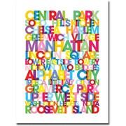 """Trademark Global Michael Tompsett """"Manhattan Neigborhoods"""" Canvas Art, 47"""" x 35"""""""