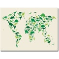 Trademark Global Michael Tompsett  in.Dinosaur World Mapin. Canvas Arts