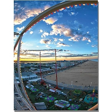 Trademark Global MCat in.Ocean Cityin. Canvas Art, 24in. x 18in.
