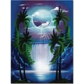 Trademark Global Conrad in.Moon Over the Waterfall IIin. Canvas Art, 24in. x 18in.