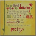 Trademark Global Nicole Dietz in.Daisy Girlin. Canvas Art, 18in. x 18in.