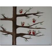 "Trademark Global Nicole Dietz ""Red Robins"" Canvas Art, 24"" x 32"""