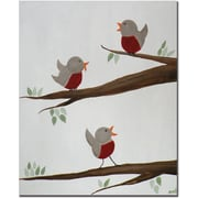 "Trademark Global Nicole Dietz ""Red Robins II"" Canvas Art, 32"" x 26"""