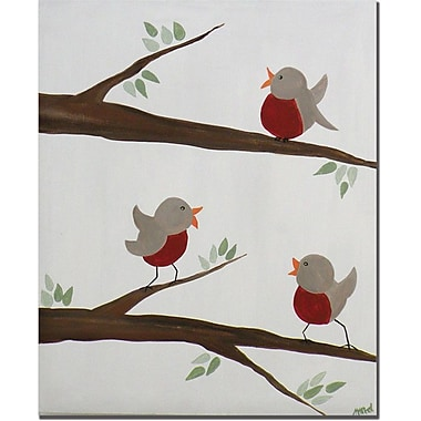 Trademark Global Nicole Dietz in.Red Robins IIIin. Canvas Art, 32in. x 26in.
