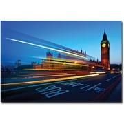 "Trademark Global Nina Papiorek ""London, Big Ben"" Canvas Art, 16"" x 24"""
