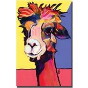 "Trademark Global Pat Saunders White ""Peaches"" Canvas Art, 19"" x 14"""