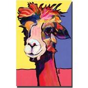 "Trademark Global Pat Saunders White ""Peaches"" Canvas Art, 47"" x 35"""