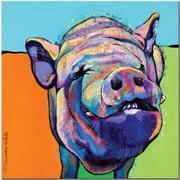 Trademark Global Pat Saunders White Grunt Canvas Art, 18 x 18