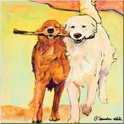 "Trademark Global Pat Saunders White ""Stick with Me"" Canvas Arts"