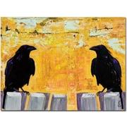 Trademark Global Pat Saunders White Gossiping Canvas Art, 18 x 24