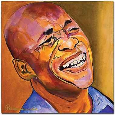 Trademark Global Pat Saunders White in.Jazz Manin. Canvas Art, 35in. x 35in.