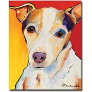 Trademark Global Pat Saunders White Polly Canvas Art, 32 x 26