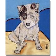 Trademark Global Pat Saunders White Reba Rae Canvas Art, 47 x 35