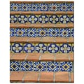 Trademark Global Patty Tuggle in.Blue and Yellow Tilesin. Canvas Art, 24in. x 18in.
