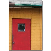 "Trademark Global Patty Tuggle ""Red Door"" Canvas Art, 24"" x 16"""