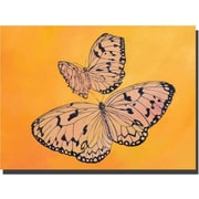 "Trademark Global Rickey Lewis ""Two Butterflies"" Canvas Art, 14"" x 19"""