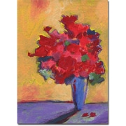 "Trademark Global Sheila Golden ""Contemporary Bouquet"" Canvas Art, 19"" x 14"""