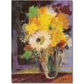 Trademark Global Sheila Golden in.Glass Vasein. Canvas Art, 32in. x 26in.