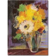 "Trademark Global Sheila Golden ""Glass Vase"" Canvas Art, 32"" x 26"""