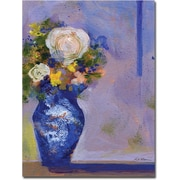 "Trademark Global Sheila Golden ""Blue Vase"" Canvas Art, 24"" x 18"""