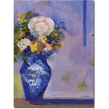 Trademark Global Sheila Golden in.Blue Vasein. Canvas Arts
