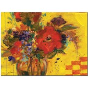 "Trademark Global Sheila Golden ""The Yellow Wall"" Canvas Art, 14"" x 19"""