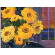 "Trademark Global Sheila Golden ""Sunset Sunflowers"" Canvas Art, 18"" x 24"""