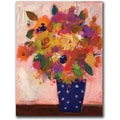 Trademark Global Sheila Golden in.Dotted Vase #1in. Canvas Art, 32in. x 24in.