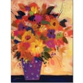 Trademark Global Sheila Golden in.Dotted Vase #2in. Canvas Art, 24in. x 18in.
