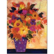 "Trademark Global Sheila Golden ""Dotted Vase #2"" Canvas Art, 24"" x 18"""