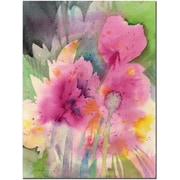 "Trademark Global Sheila Golden ""Mouve Garden"" Canvas Art, 32"" x 24"""