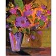 "Trademark Global Sheila Golden ""Magenta"" Canvas Art, 32"" x 26"""