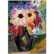 "Trademark Global Sheila Golden ""Harvest Bouquet"" Canvas Art, 47"" x 35"""