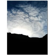 "Trademark Global Tammy Davison ""Mountain Silhouette"" Canvas Art, 32"" x 24"""