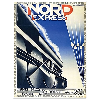 Trademark Global Adolphe Cassandre in.Nord Expressin. Canvas Arts