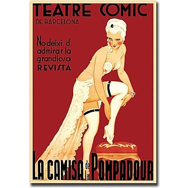 Trademark Global in.Teatre Comic de Barcelonain. Canvas Art, 32in. x 26in.