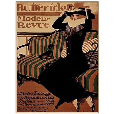Trademark Global Paul Scheurich in.Buttericks Moden Revuein. Canvas Art, 32in. x 24in.