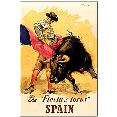 Trademark Global in.The Fiesta de Toros Spainin. Canvas Art, 19in. x 14in.