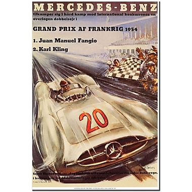 Trademark Global H. Liskars in.Mercedes Benzin. Canvas Art, 19in. x 14in.