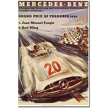 Trademark Global H. Liskars in.Mercedes Benzin. Canvas Art, 24in. x 18in.