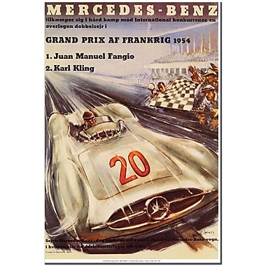 Trademark Global H. Liskars in.Mercedes Benzin. Canvas Art, 32in. x 24in.