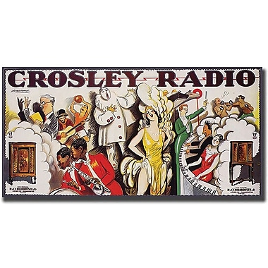 Trademark Global in.Crosley Radioin. Canvas Art, 24in. x 47in.