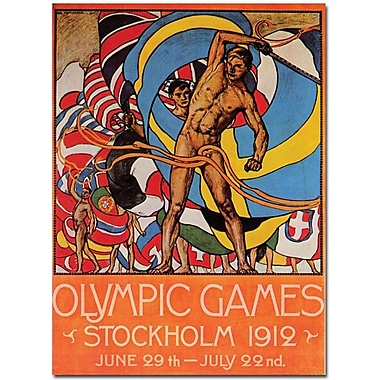 Trademark Global Olle Hjortzberg in.Olympic Games Stockholmin. Canvas Art, 24in. x 18in.