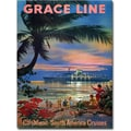 Trademark Global in.Grace Line Cruisesin. Canvas Art, 24in. x 18in.