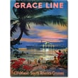 "Trademark Global ""Grace Line Cruises"" Canvas Art, 24"" x 18"""