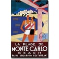 Trademark Global Phillipe Bouchard in.La Plage de Monte Carlo Beachin. Canvas Art, 24in. x 16in.