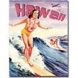 """Trademark Global """"Hawaii Vintage"""" Canvas Art, 24"""" x 18"""""""