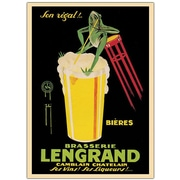 "Trademark Global G.Piana ""Bieres Brasserie Lengrand"" Canvas Art, 24"" x 18"""