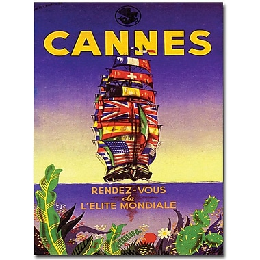 Trademark Global M. Pecnard in.Cannesin. Canvas Art, 24in. x 18in.